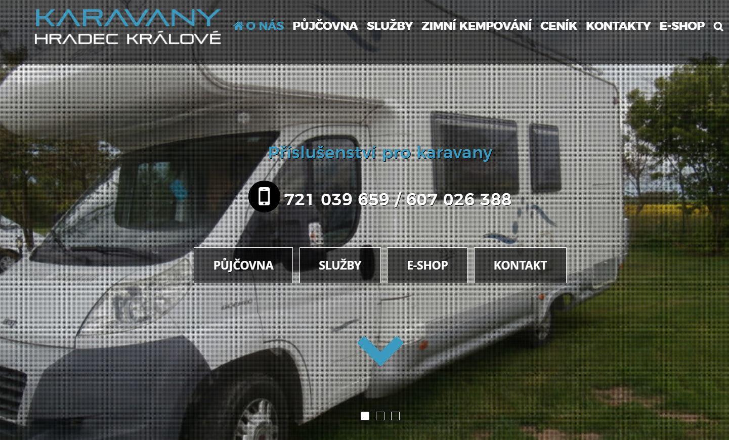 Půjčovna karavanů a obytných vozidel Hradec Králové